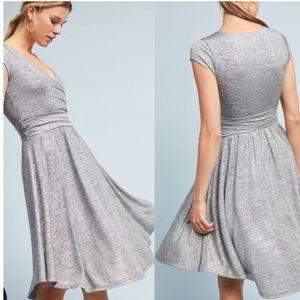 cfeae367ef3 Anthropologie Maeve tamera silver wrap dress